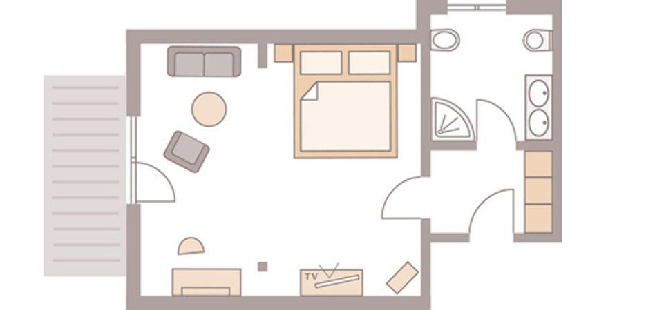 """Double room """"Zartenbach II"""" 4/4"""