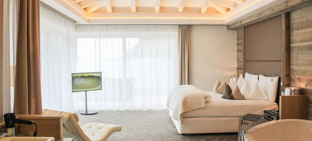 Penthouse-Chalet mit Hot-Whirlpool und Sauna auf der privaten Panorama-Dachterrasse: - 20%