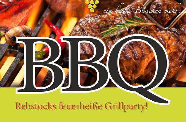 BBQ  - feu griller très chaud du Rebstock!
