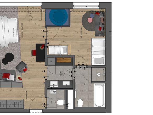 Family-Suite Premium + Kuschelnest Grundriss #1